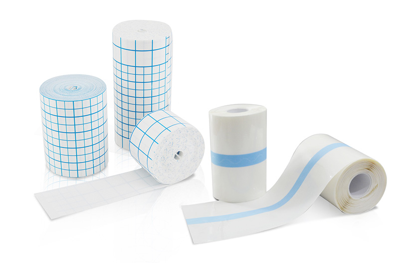 Spun-laced non-woven dressing roll